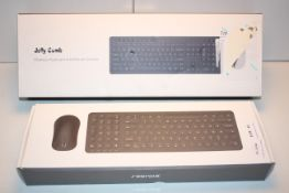 2X BOXED ASSORTED KEYBOARD COMBO'S BY JELLY COMB & OTHER (IMAGE DEPICTS STOCK)Condition