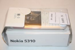 BOXED NOKIA 5310 MOBILE PHONE Condition ReportAppraisal Available on Request- All Items are