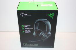BOXED RAZER KRAKEN X USB DIGITAL SURROUND SOUND GAMING HEADSET RRP £56.99Condition ReportAppraisal