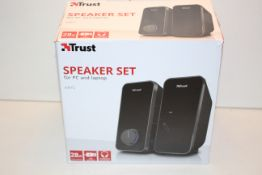 BOXED TRUST SPEAKER SET FOR PC AND LAPTOP ARYS RRP £29.99Condition ReportAppraisal Available on