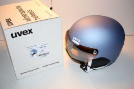 BOXED UVEX HLMT 500 VISOR WINTER SPORTS HELMET 55-59CM LTM.SILVER S2 RRP £71.06Condition