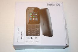 BOXED NOKIA 106 MOBILE PHONE RRP £44.99Condition ReportAppraisal Available on Request- All Items are