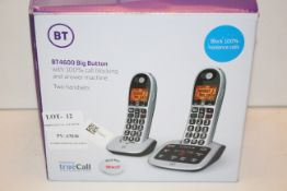 BOXED BT 4600 BIG BUTTON WITH 100% CALL BLOCKING AND ANSWERING MACHINE TWO HANDSETS RRP £58.