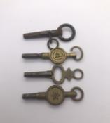 4 Assorted Antique Lock Keys Ref 410