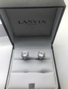 Lanvin boxed cz Cufflinks RRP £149 Ref 405
