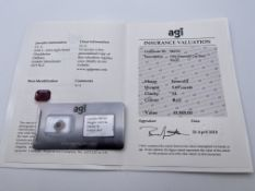 ***£1845.00*** ONE EMRALD CUT RED BERYL, CLARITY- SI, COLOUR- RED, TOTAL CARAT WEIGHT- 3.69,