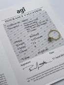 ***£9425.00*** 18CT YELLOW GOLD LADIES DIAMOND SOLITAIRE RING, SET WITH ONE BRILLIANT CUT DIAMOND,