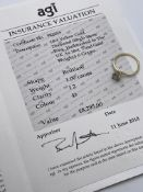 ***£8295.00*** 18CT YELLOW GOLD LADIES DIAMOND SOLITAIRE RING, SET WITH ONE BRILLIANT CUT DIAMOND,