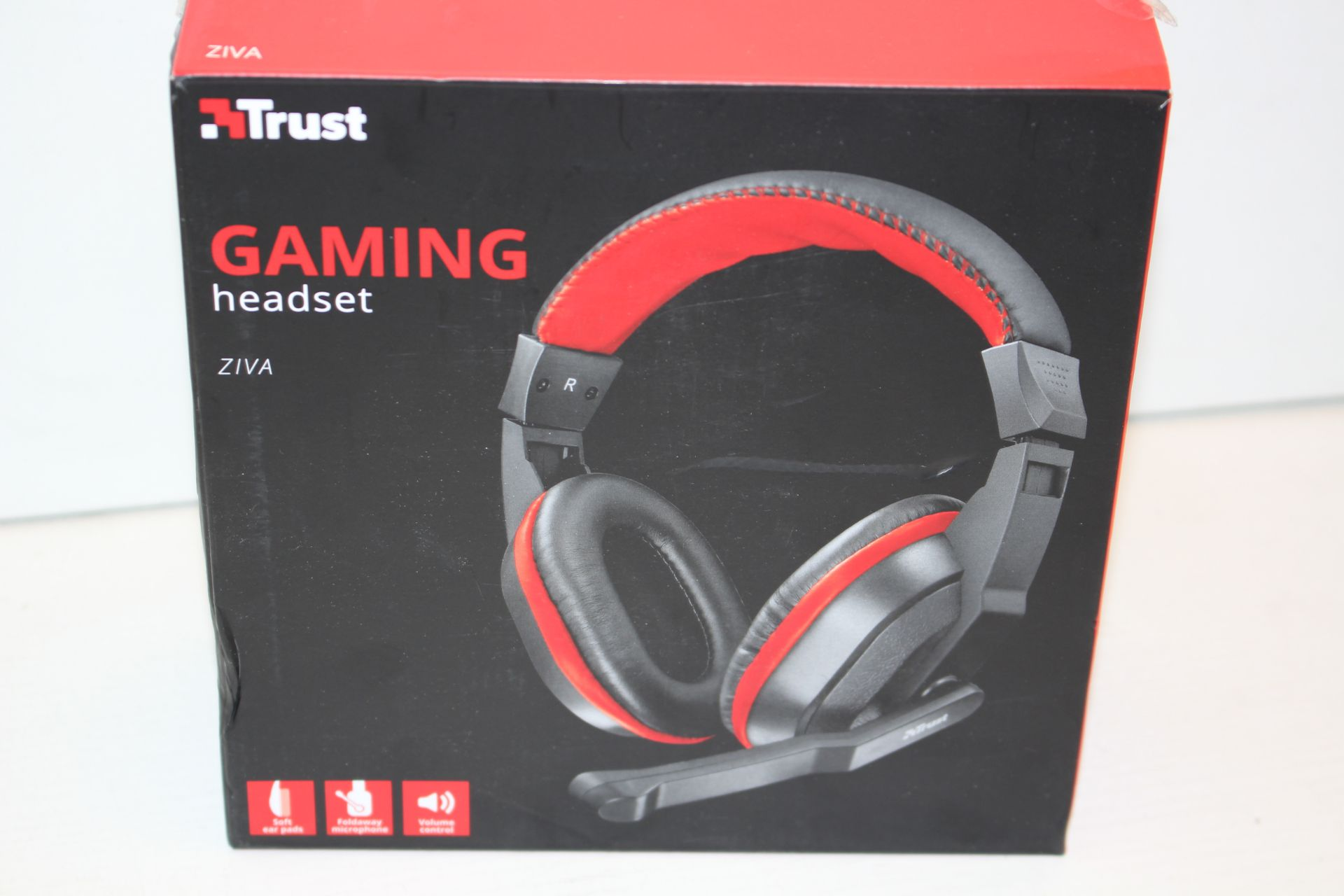 BOXED TRUST GAMING HEADSET ZIVA RRP £18.99Condition ReportAppraisal Available on Request- All