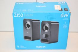 BOXED LOGITECH Z150 CLEAR STEREO SOUND SPEAKERS RRP £34.99Condition ReportAppraisal Available on