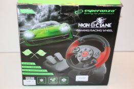 BOXED HIGH OCTANE GAMING RACING WHEEL RRP £29.99Condition ReportAppraisal Available on Request-