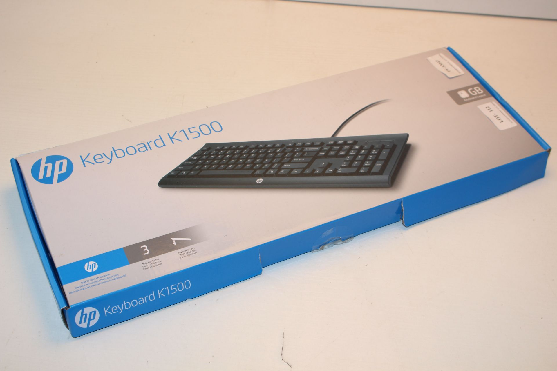 BOXED HP KEYBOARD K1500 GB KEYBOARD LAYOUT Condition ReportAppraisal Available on Request- All Items