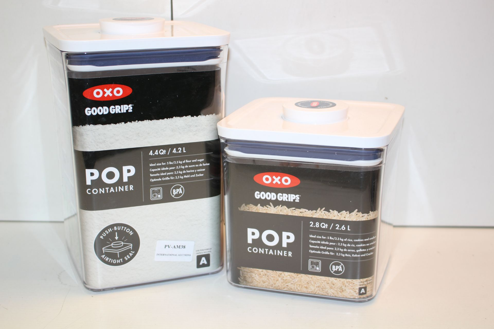 X2 OXO STORAGE CONTAINERSCondition ReportAppraisal Available on Request- All Items are Unchecked/