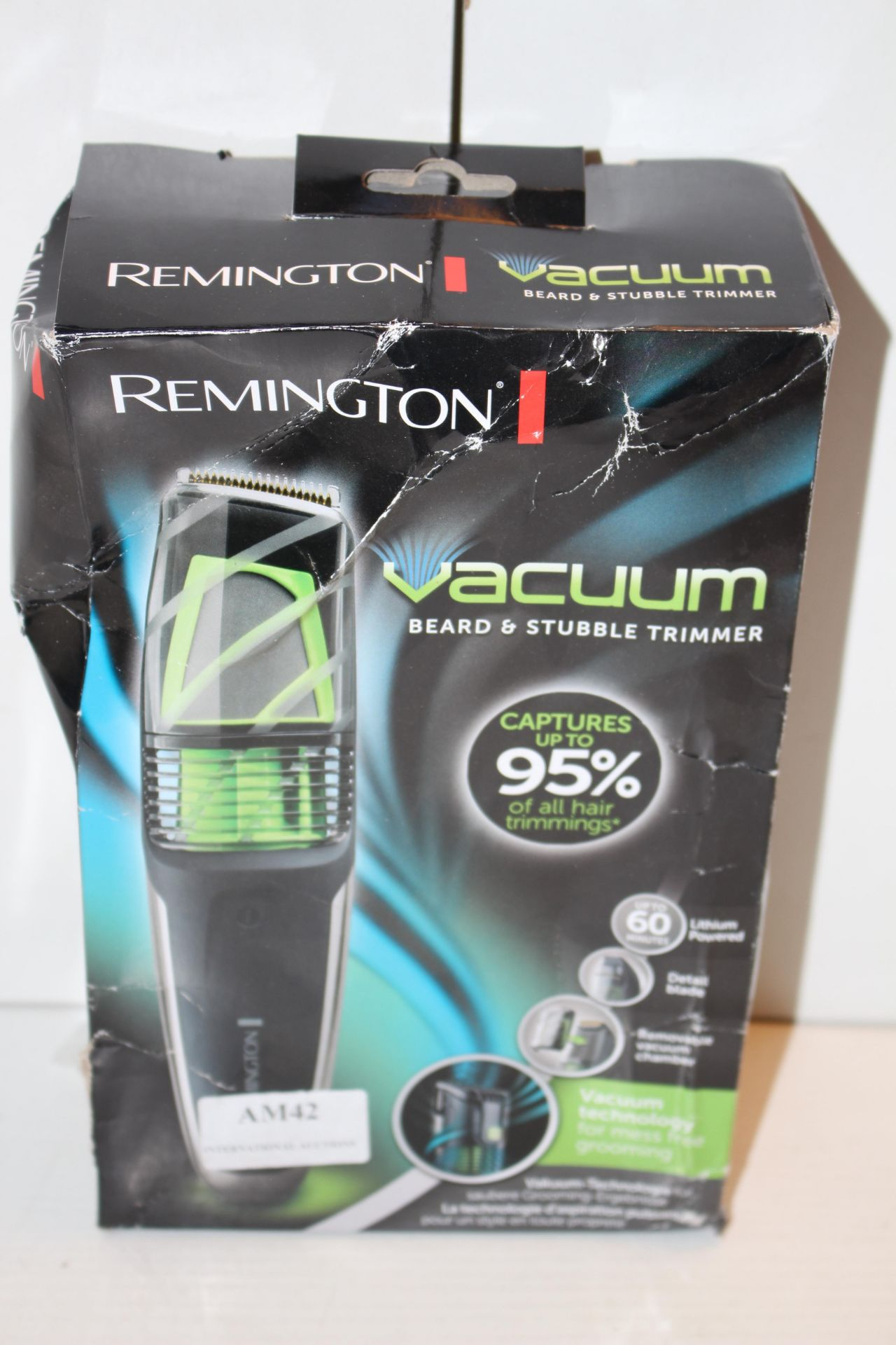 BOXED REMINGTON VACUUM BEARD AND STUBBLE TRIMMERCondition ReportAppraisal Available on Request-