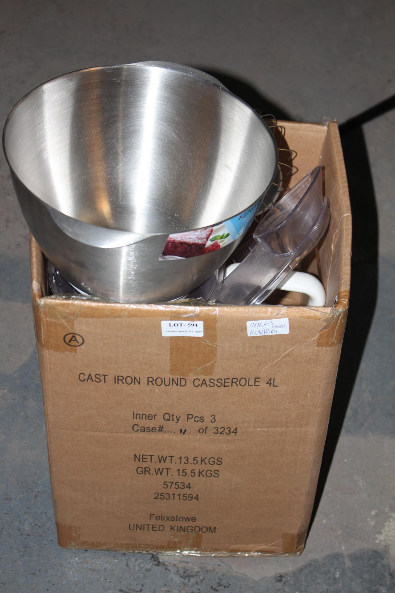 KENWOOD FOOD PROCESSOR WITH ATTACHMENTSCondition ReportAppraisal Available on Request- All Items are