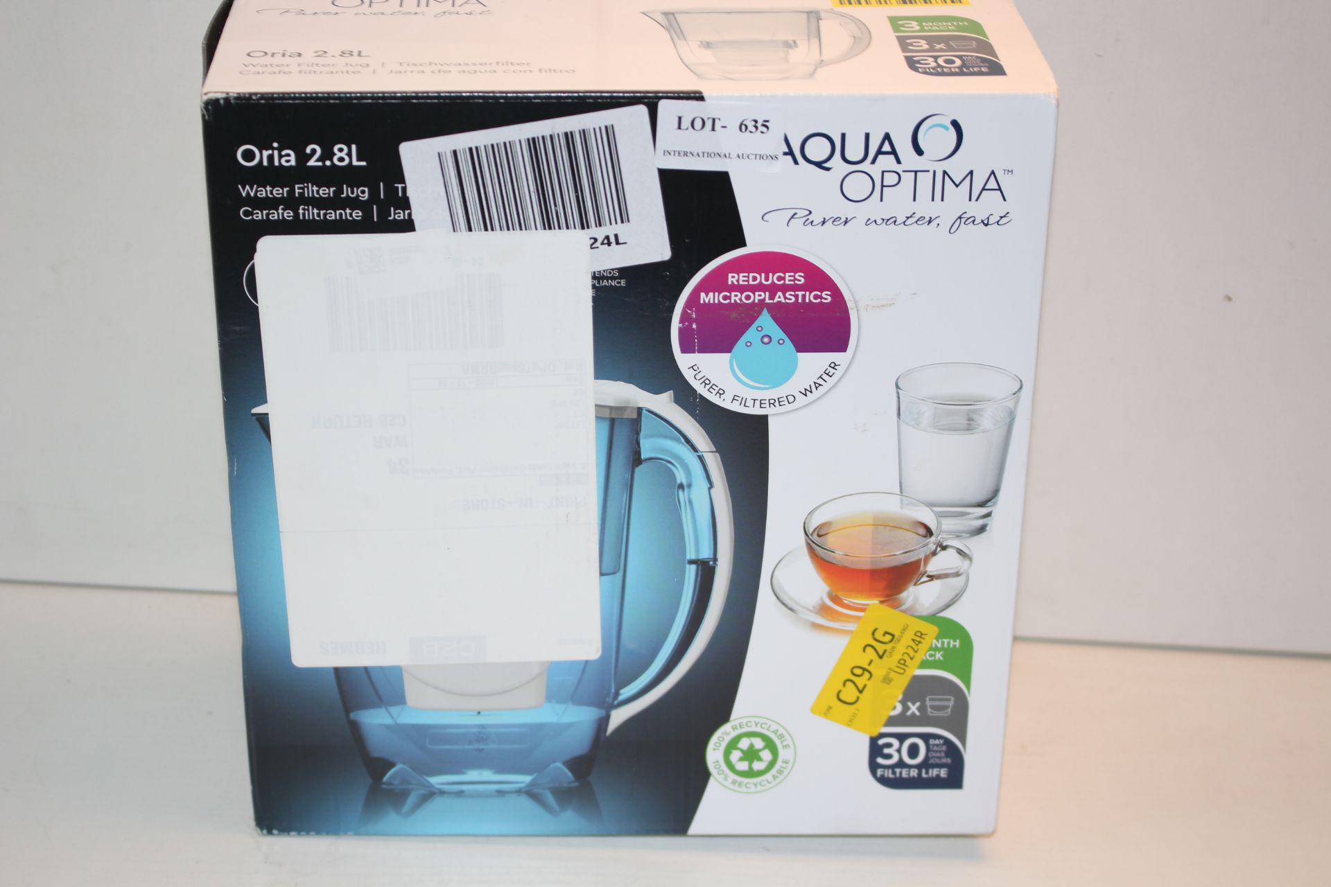 BOXED AQUA OPTIMA ORIA 2.87L FILTER JUGCondition ReportAppraisal Available on Request- All Items are