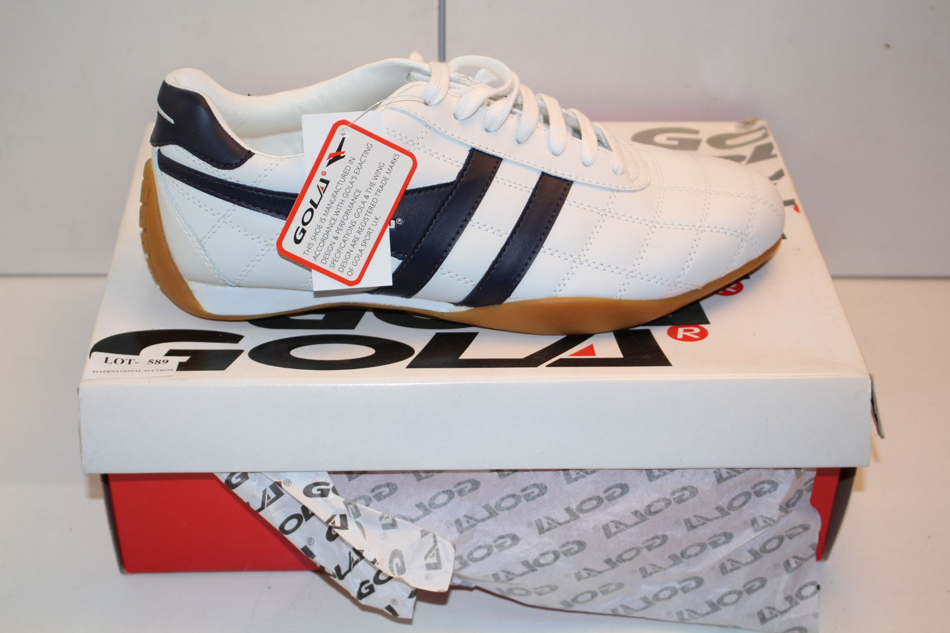 BOXED GOLA TRAINERS, UK SIZE 9, INCLUDES TAGSCondition ReportAppraisal Available on Request- All