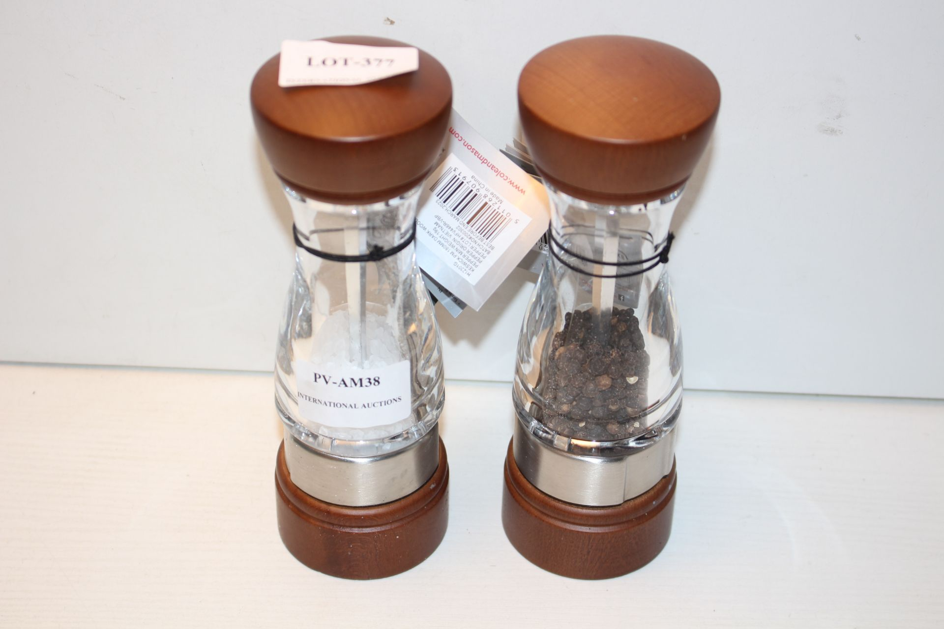 UNBOXED COLE & MASON SALT & PEPPER MILL SET Condition ReportAppraisal Available on Request- All