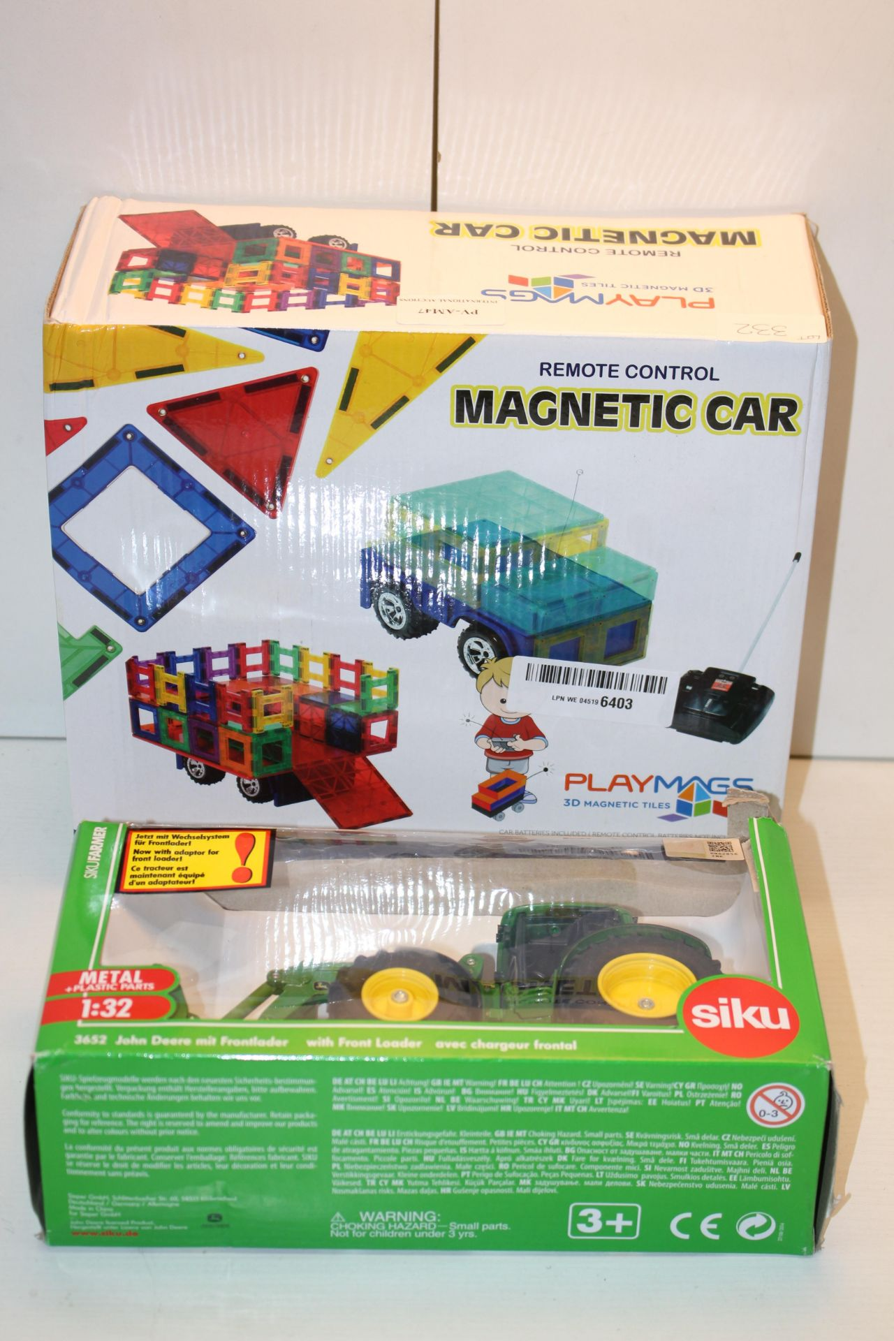 2X BOXED ASSORTED ITEMS TO INCLUDE RC MAGNETIC CAR & JOHN DEERE TRACTORCondition ReportAppraisal