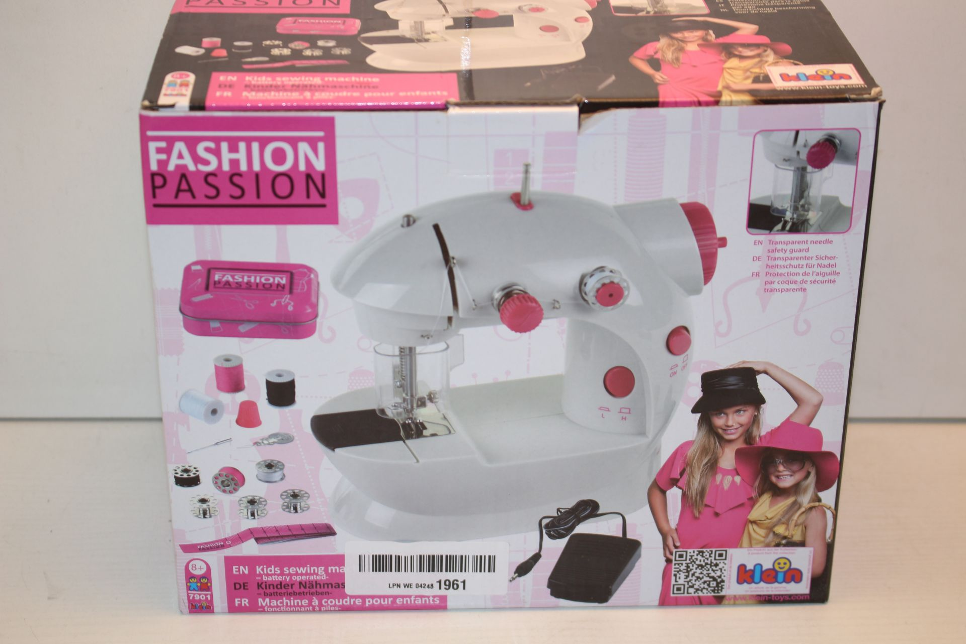 BOXED FASHION PASSION KIDS SEWING MACHINE RRP £39.99Condition ReportAppraisal Available on