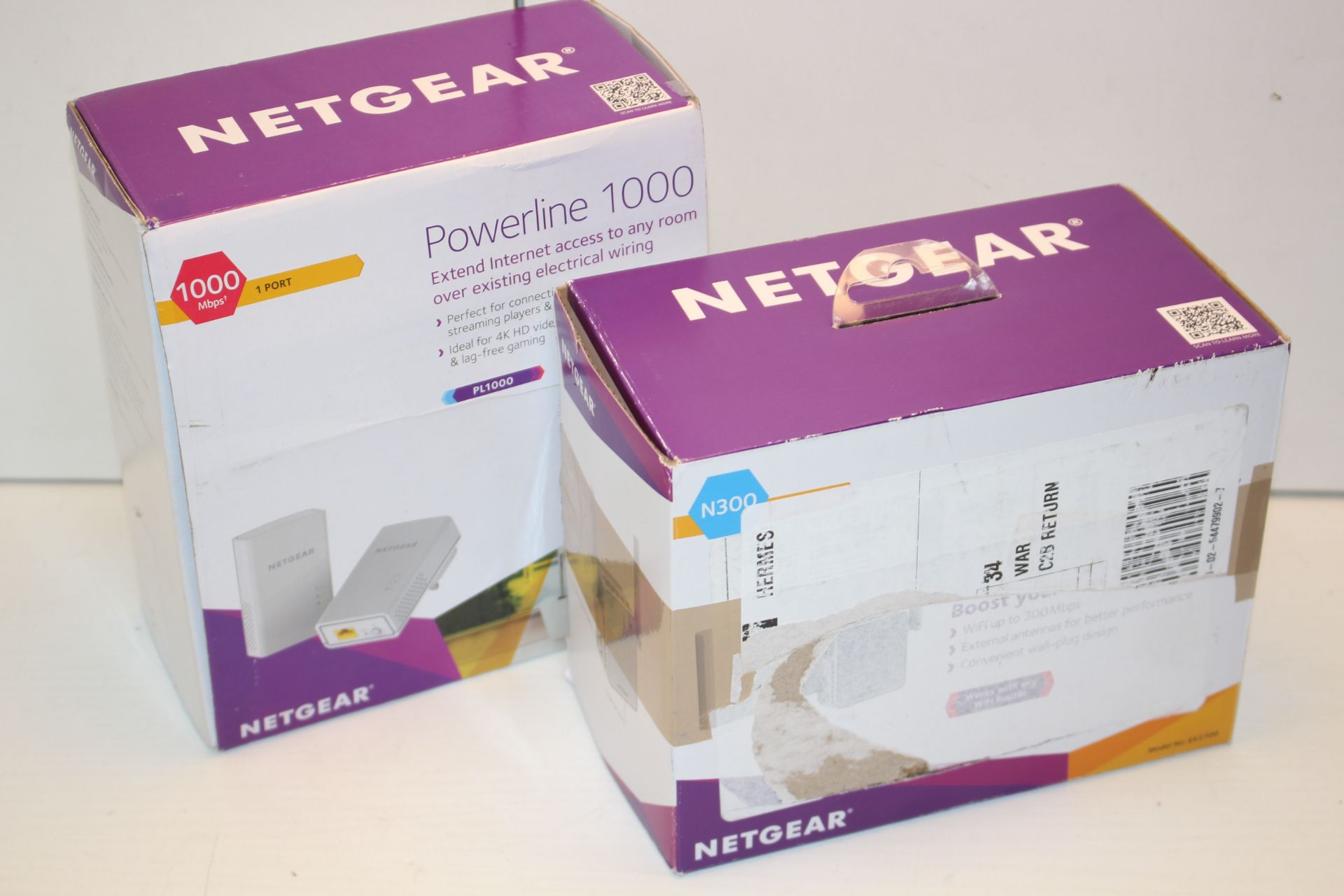 2X BOXED ASSORTED NETGEAR WIFI RANGE EXTENDERS Condition ReportAppraisal Available on Request- All