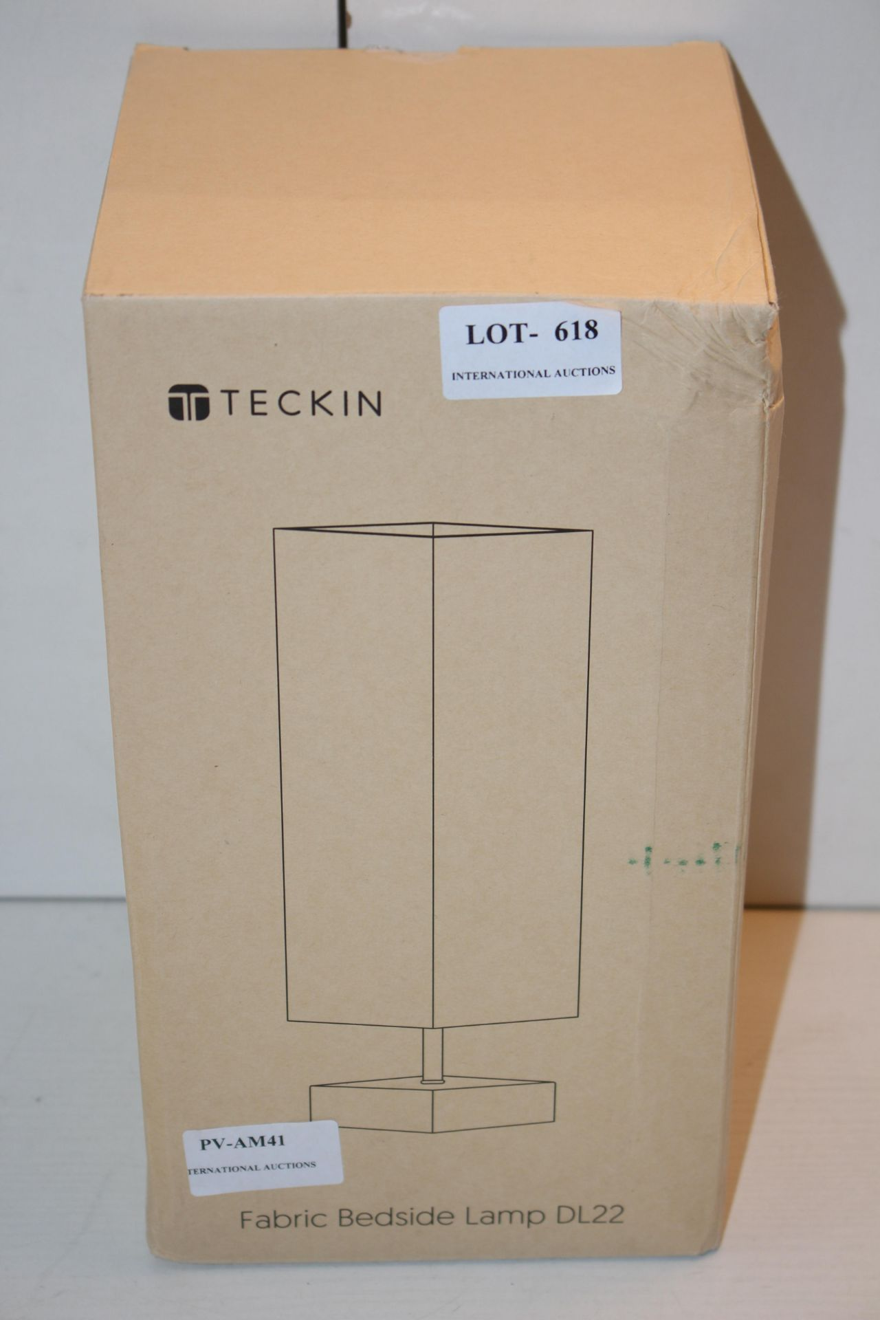 BOXED TECKIN TABLE LAMPCondition ReportAppraisal Available on Request- All Items are Unchecked/