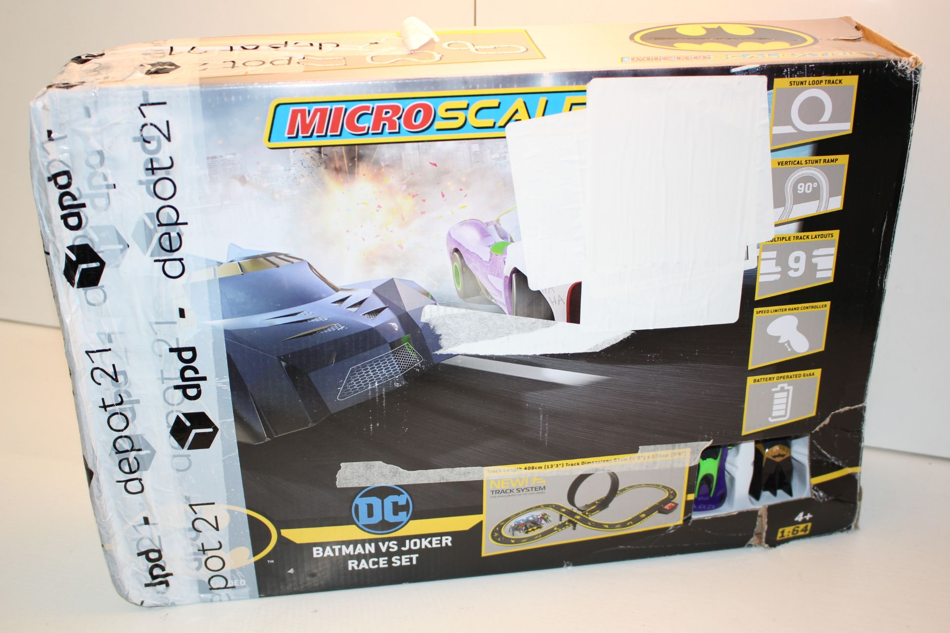 BOXED MICRO SCALEXTRIC DC BATMAN VS JOKER RACER SET RRP £69.00Condition ReportAppraisal Available on