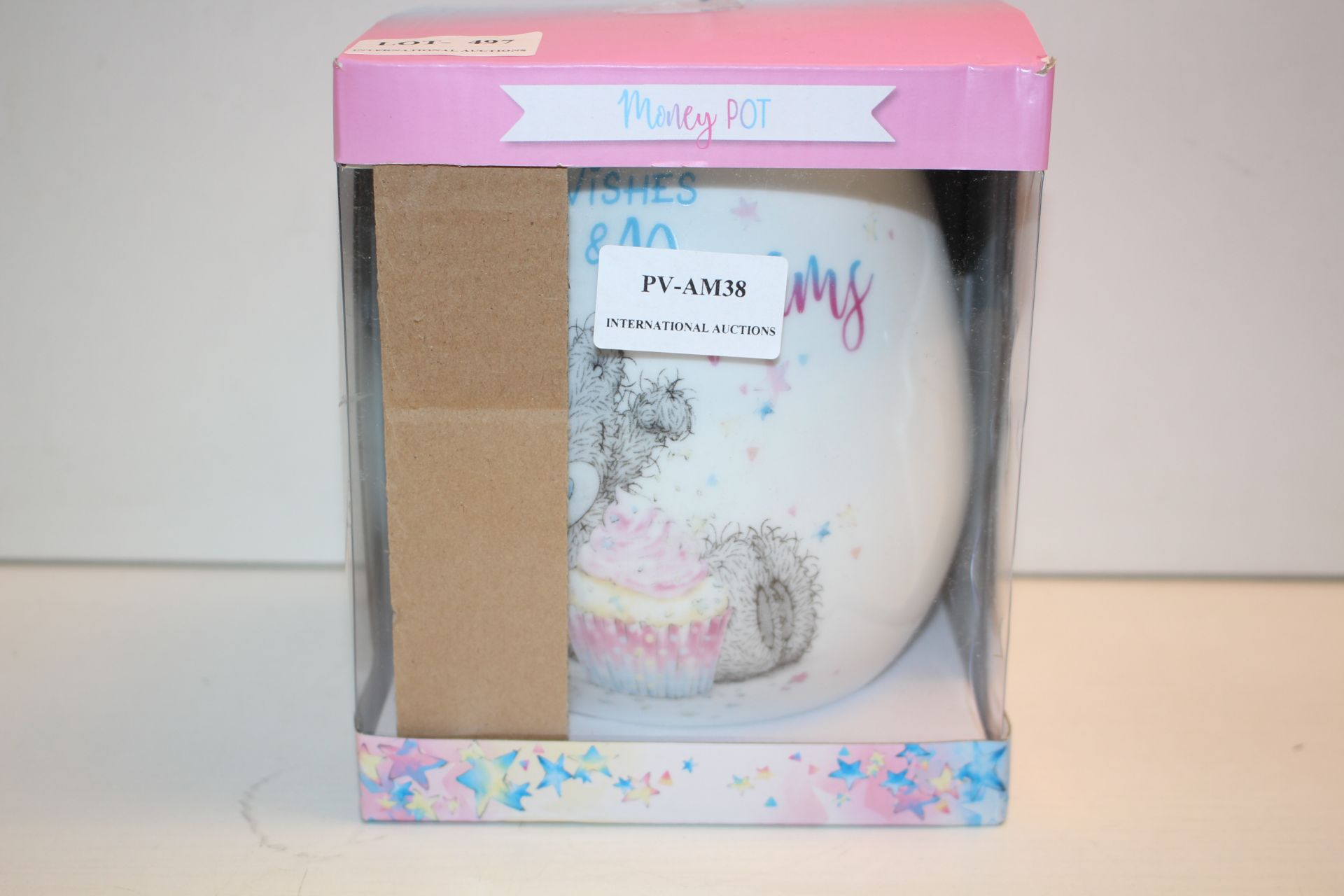 BOXED DECORATIVE MONEY POT Condition ReportAppraisal Available on Request- All Items are Unchecked/