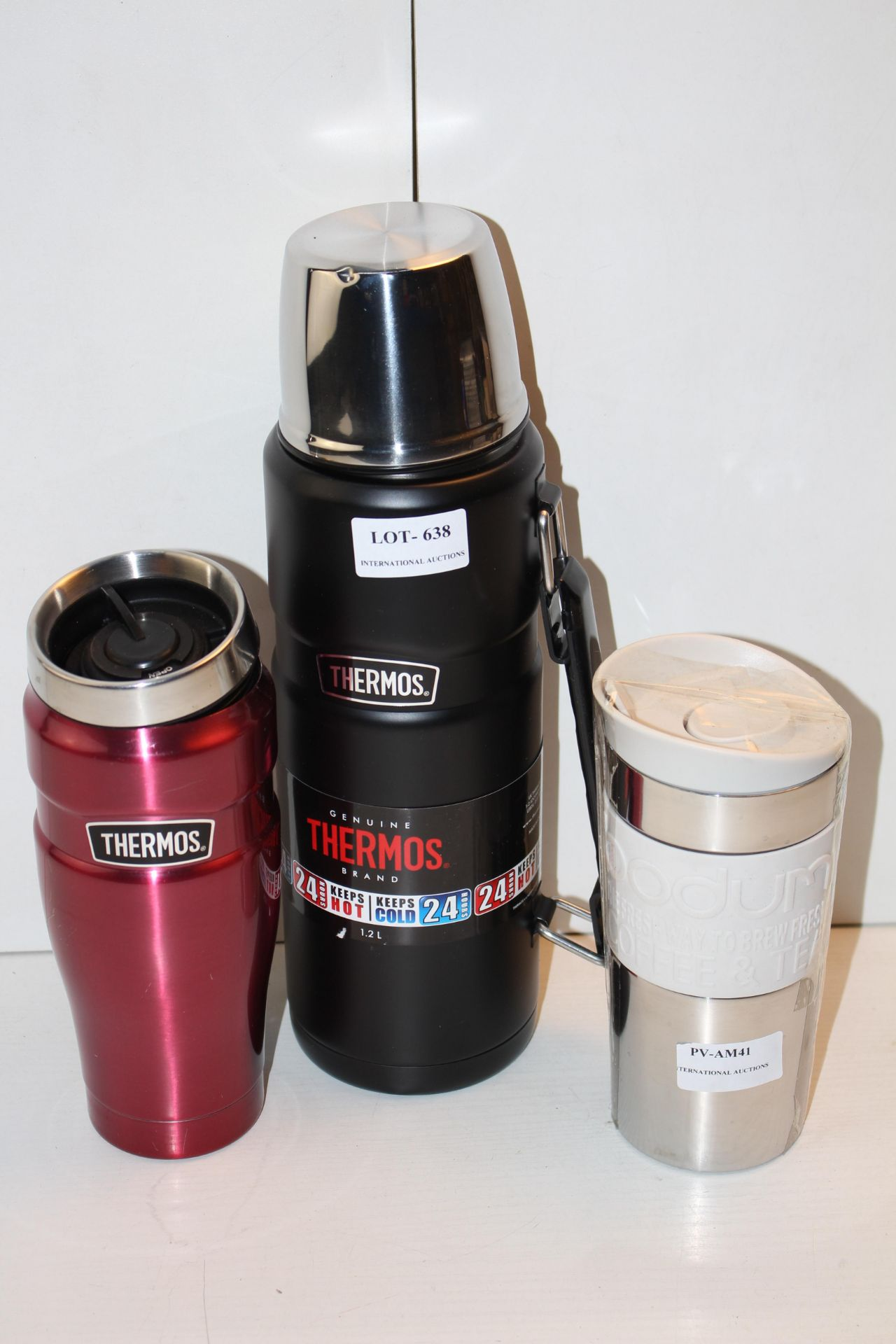 X3 THERMOS FLASKS AND MUGS, PLEASE USE IMAGE AS A GUIDECondition ReportAppraisal Available on