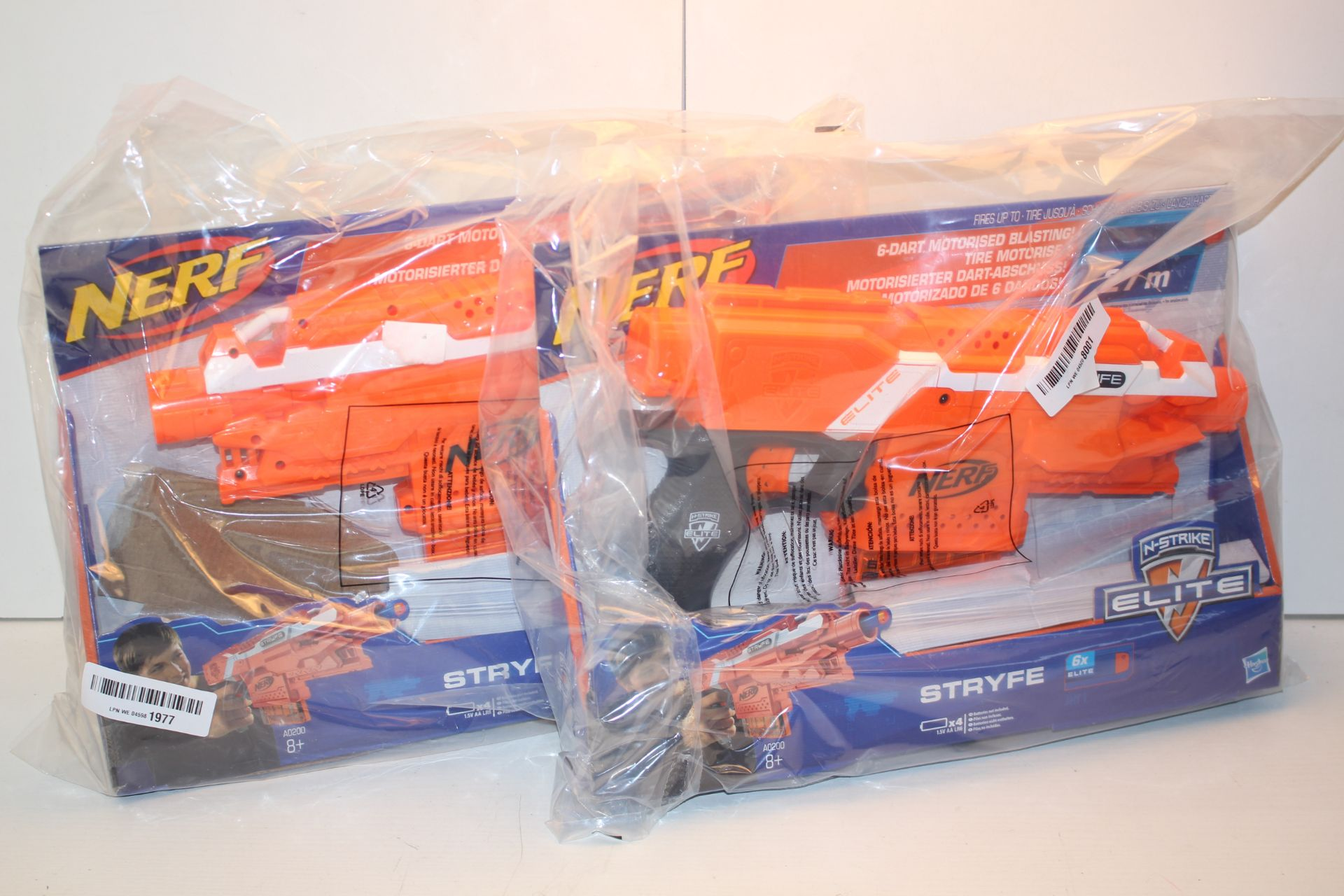 2X BOXED NERF N-STRYKE ELITE STRYFE GUNS Condition ReportAppraisal Available on Request- All Items
