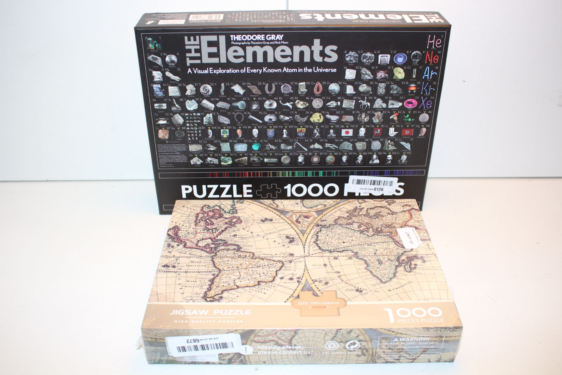 2X BOXED ASSORTED PUZZLES TO INCLUDE THE ELEMENTS & GLOBECondition ReportAppraisal Available on