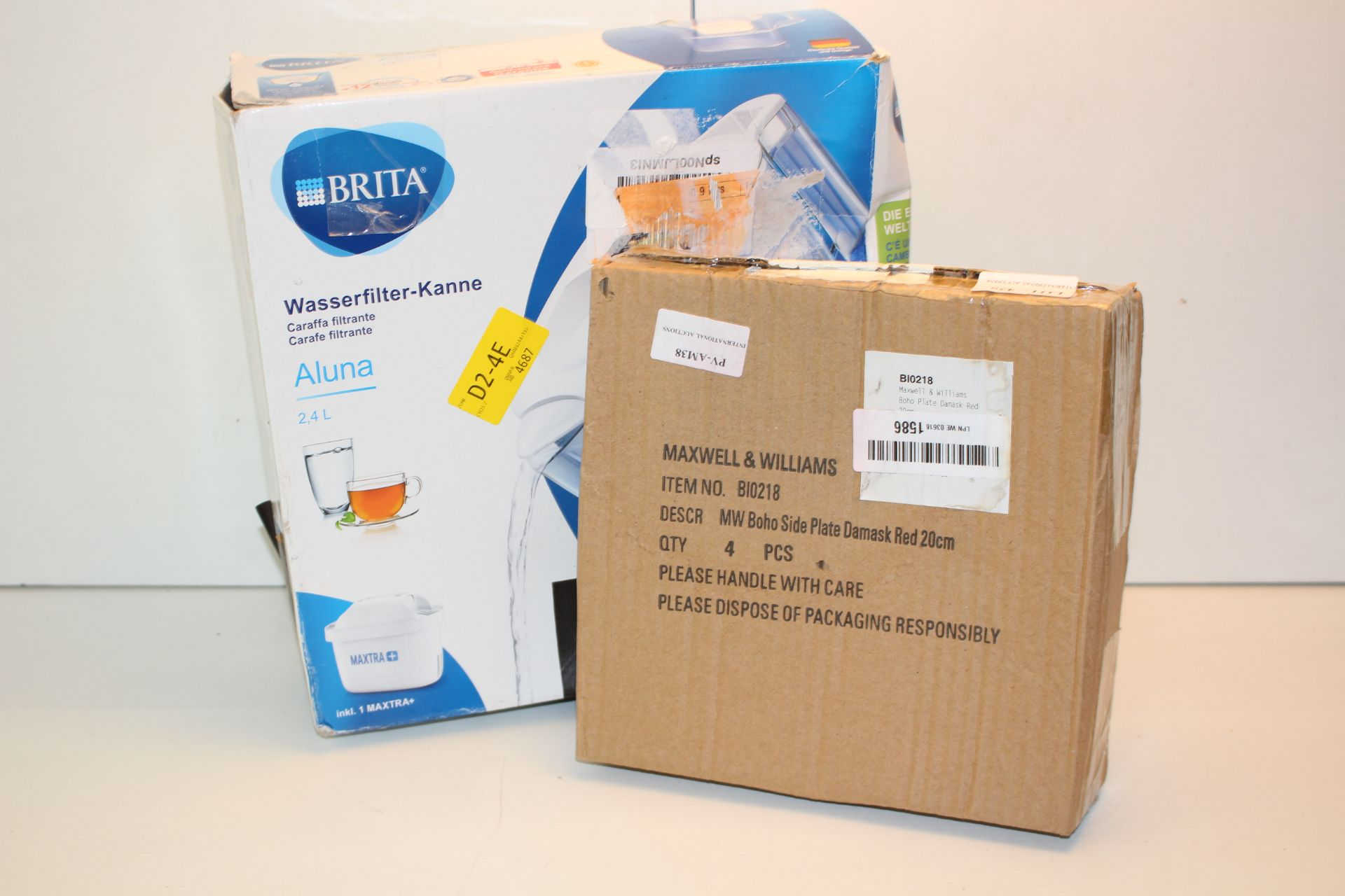 X2 BOXED ITEMS INCLUDING, BOHO SIDE PLATE AND BRITA FILTER JUGCondition ReportAppraisal Available on