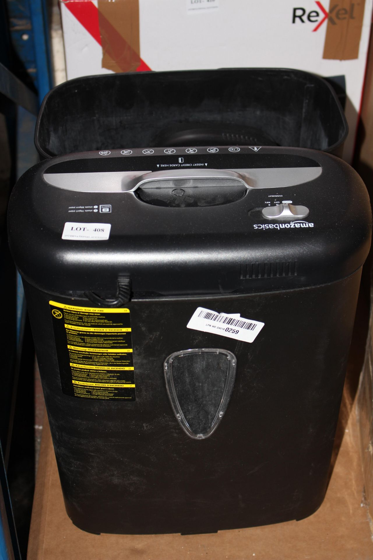 2X UNBOXED PAPER SHREDDERS (IMAGE DEPICTS STOCK)Condition ReportAppraisal Available on Request-