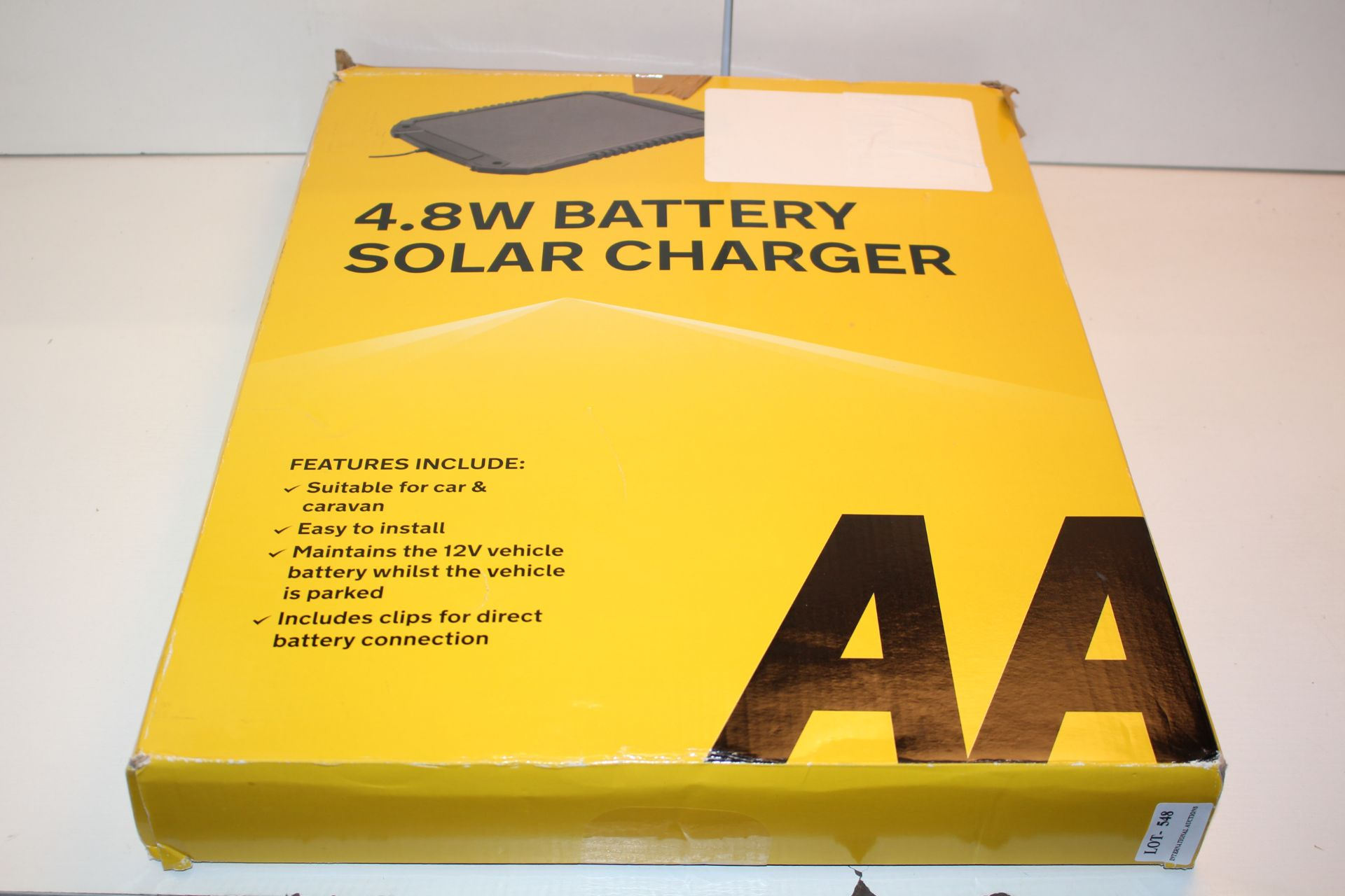 BOXEDAA 3.8W BATTERY CHARGER, SOLr charger Condition ReportAppraisal Available on Request- All Items