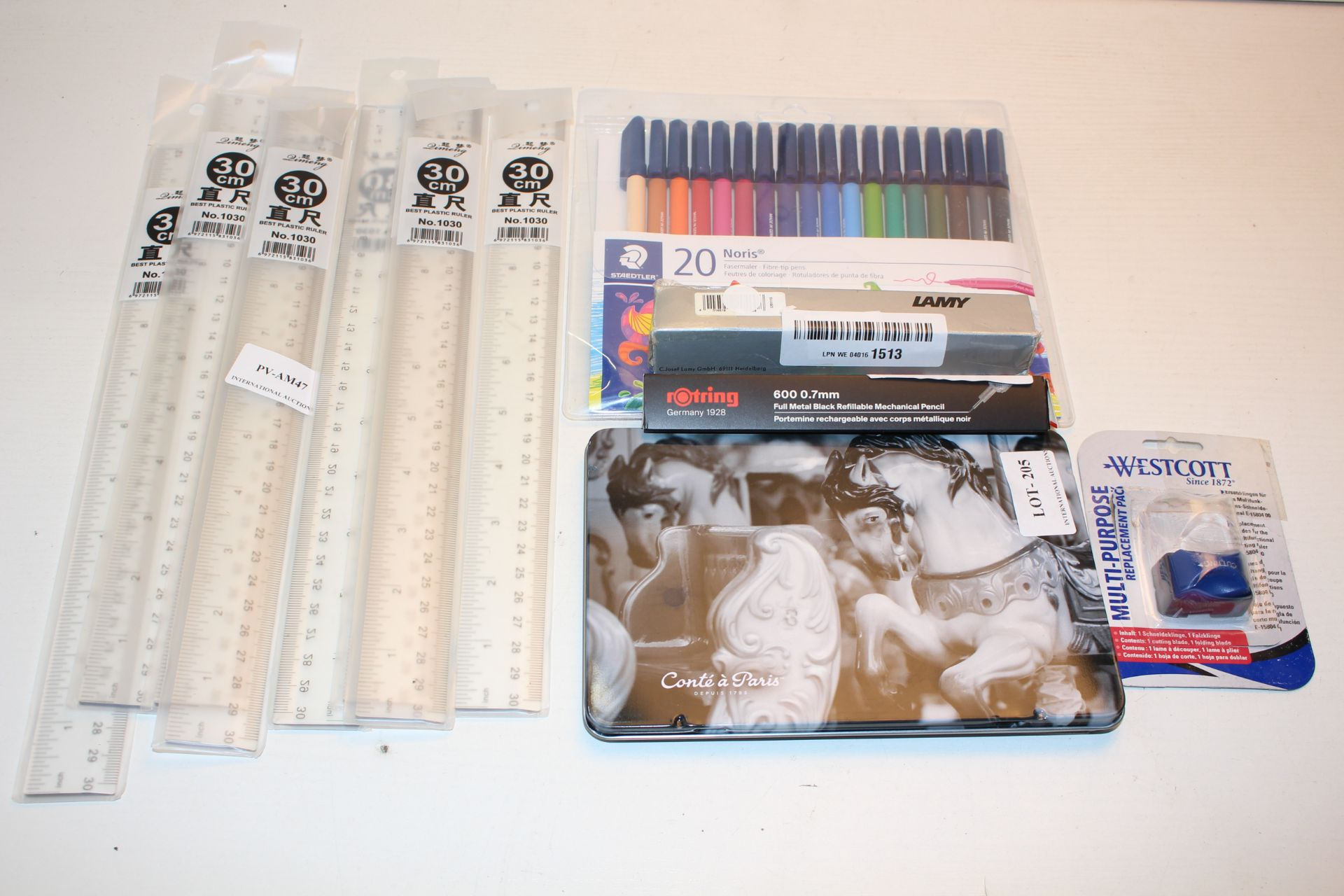 ASSORTED STATIONARY ITEMS TO INCLUDE CONTE DE PARIS PENCILS & OTHER (IMAGE DEPICTS STOCK)Condition