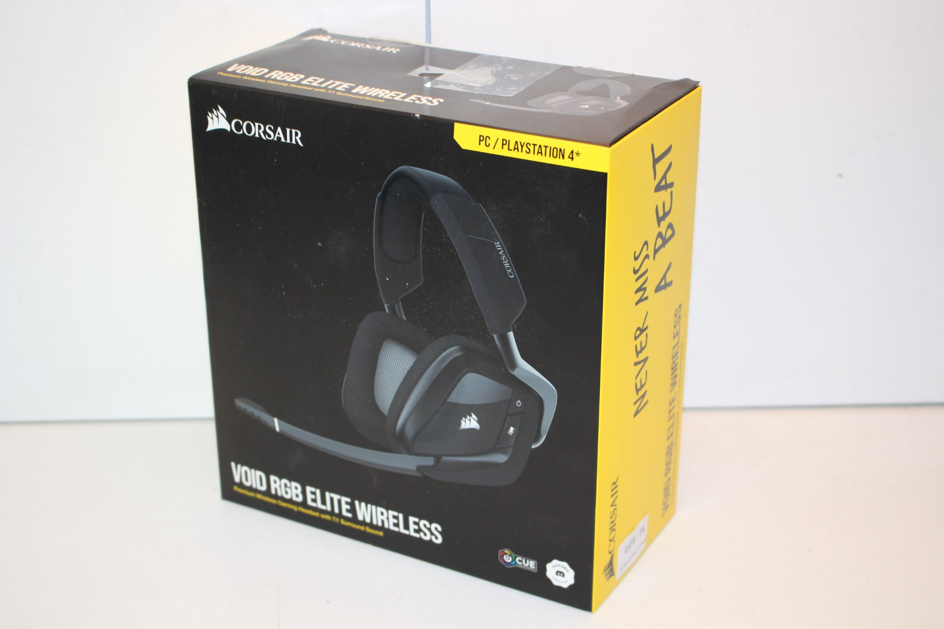 BOXED CORSAIR VOID RGB ELITE USB PREMIUM GAMING HEADSET WITH 7.1 SURROUND SOUND RRP £64.