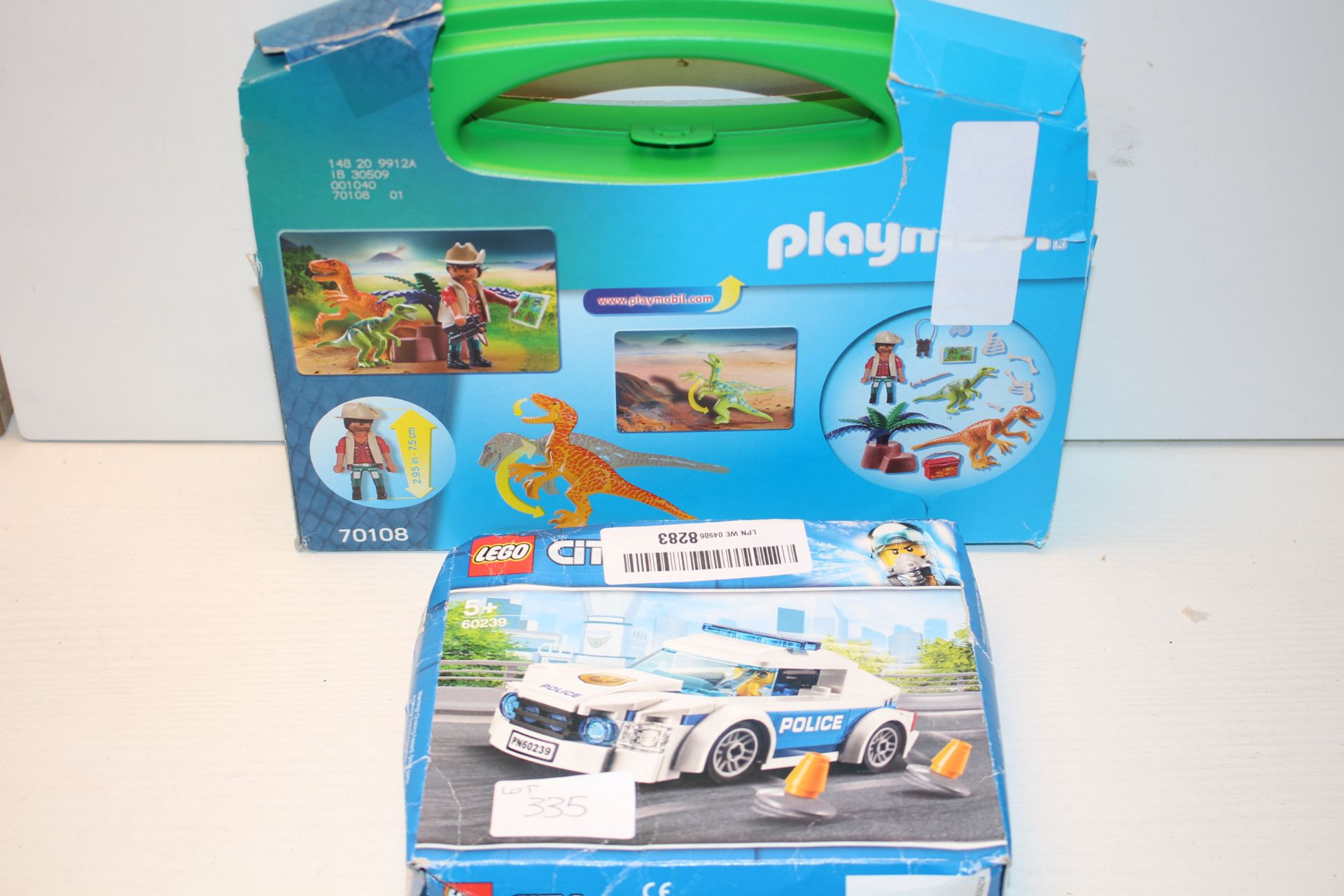 2X BOXED ASSORTED TOYS BY LEGO & PLAYMOBILCondition ReportAppraisal Available on Request- All