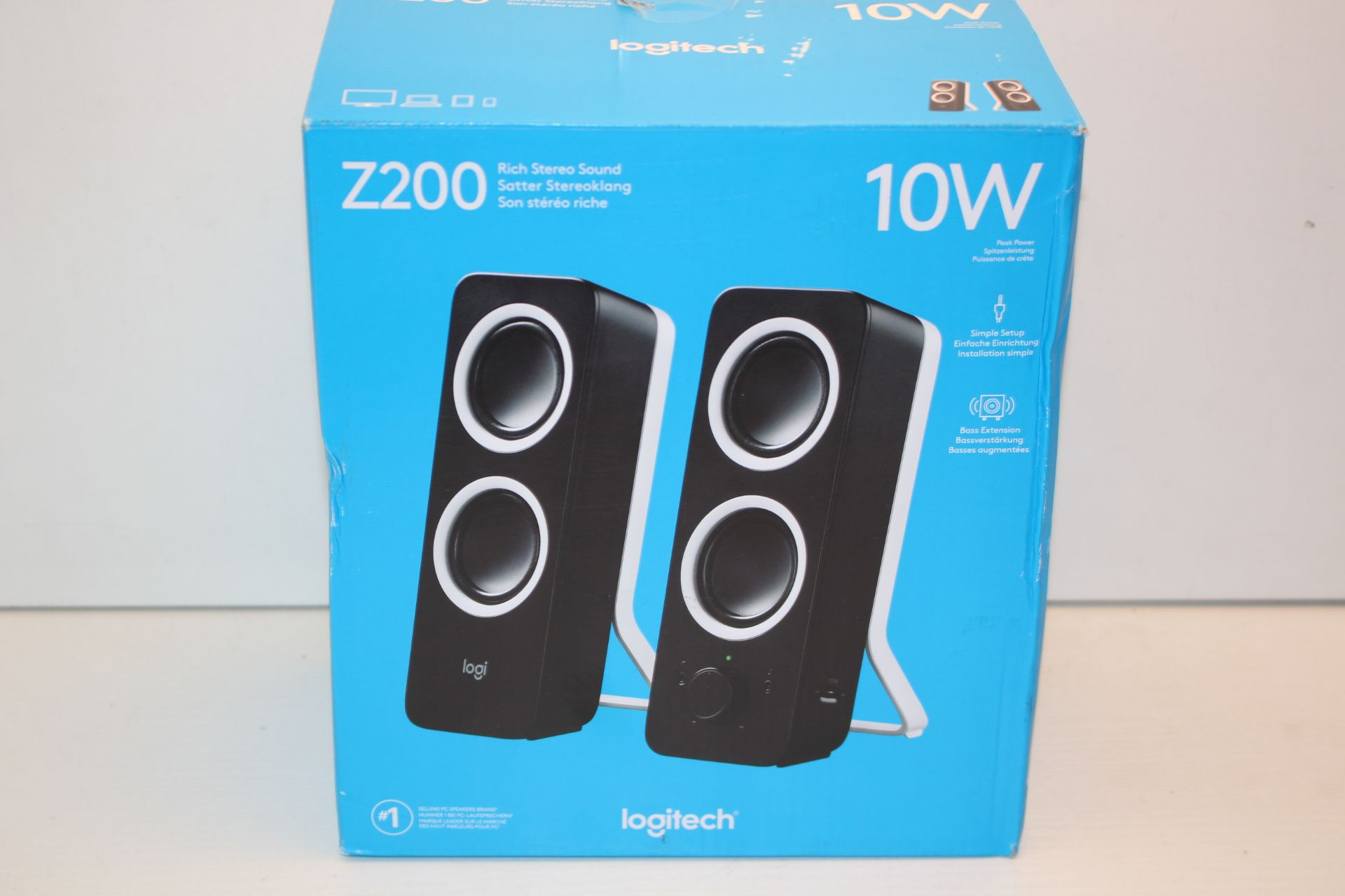 BOXED LOGITECH RICH STEREO SOUND Z200 RRP £25.00Condition ReportAppraisal Available on Request-