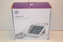 BOXED BT BIG BUTTON 200 HOME PHONE RRP £21.49Condition ReportAppraisal Available on Request- All