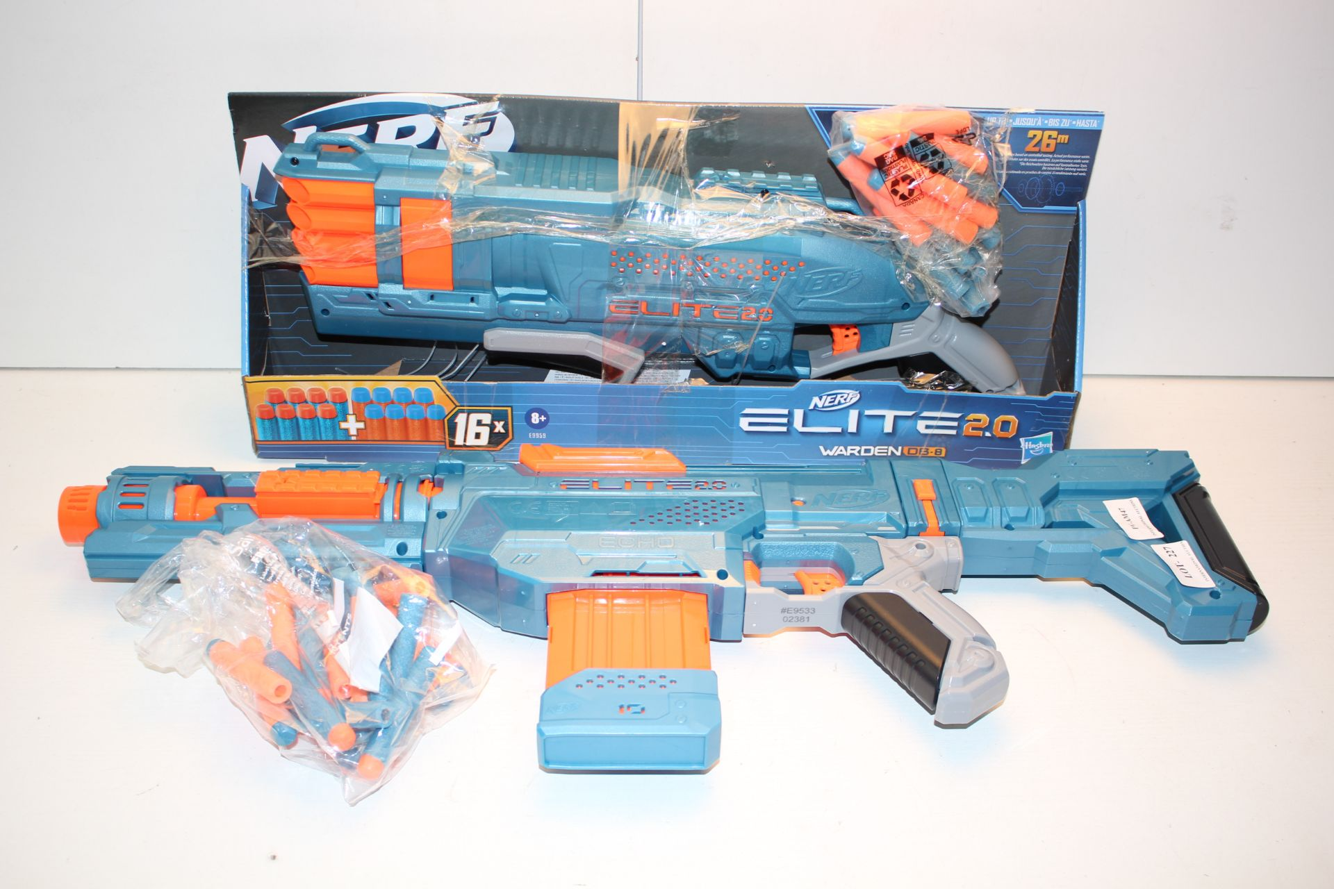 2X ASSORTED NERF ELITE STRIKE FORCE GUNS - Condition ReportAppraisal Available on Request- All Items