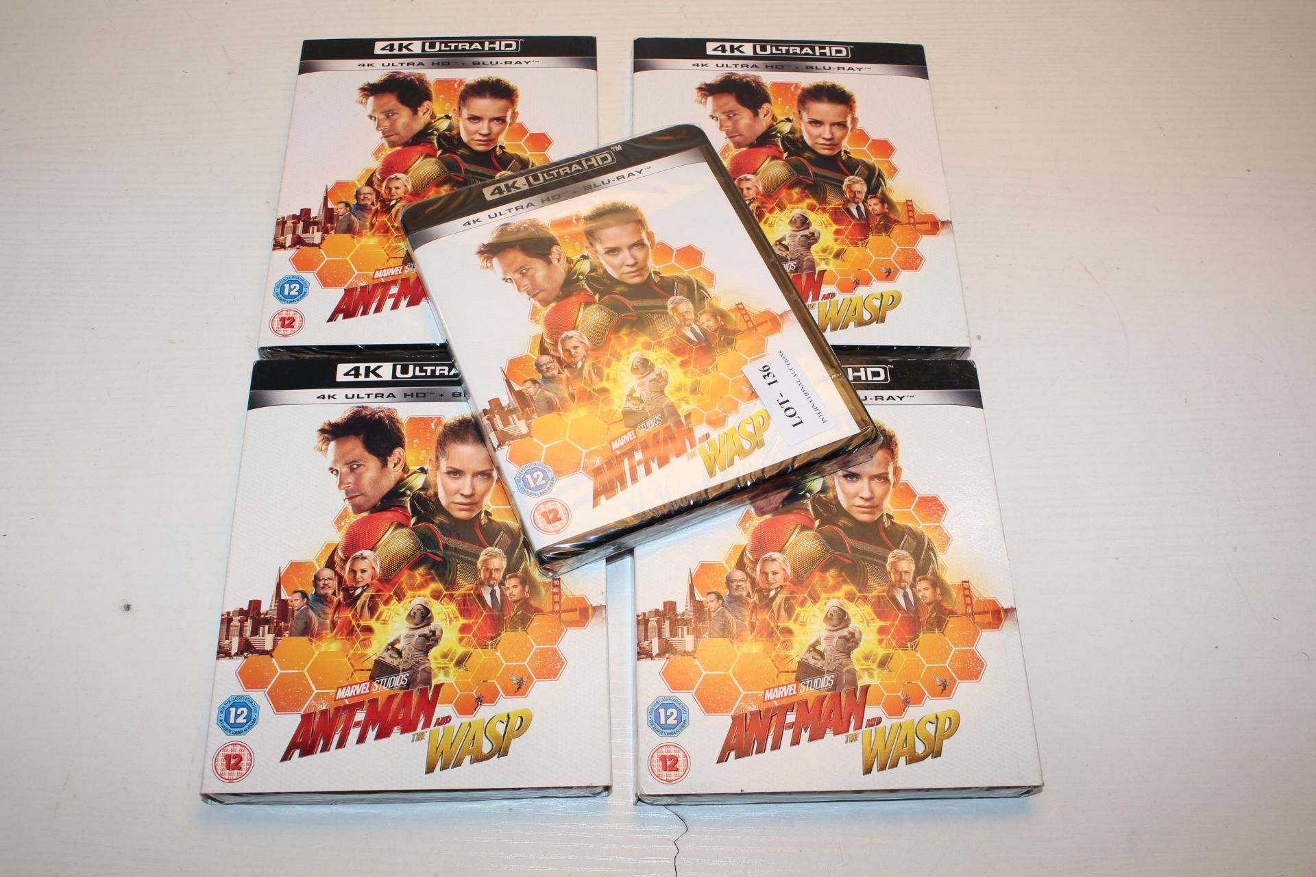 5X BOXED SEALED MARVEL STUDIOS ANT MAN AND THE WASP - 4K ULTRA HD + BLU RAY DVD DISCS Condition