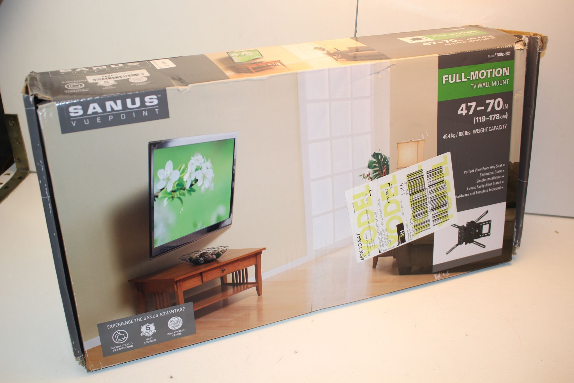 BOXED SANUS VUEPOINT FULL-MOTION TV WALL MOUNT 47-70INCondition ReportAppraisal Available on