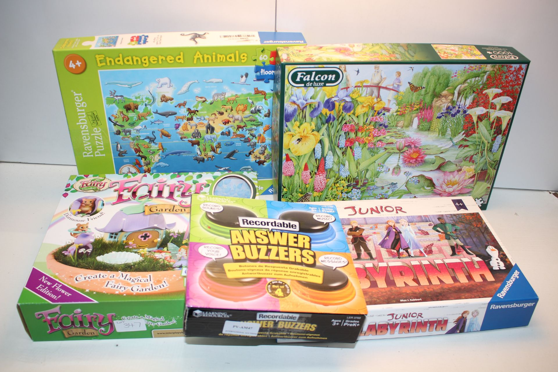 5X ASSORTED BOXED ITEMS TO INCLUDE FALCON DE LUXE PUZZLE, DISNEY FROZEN & OTHER (IMAGE DEPICTS