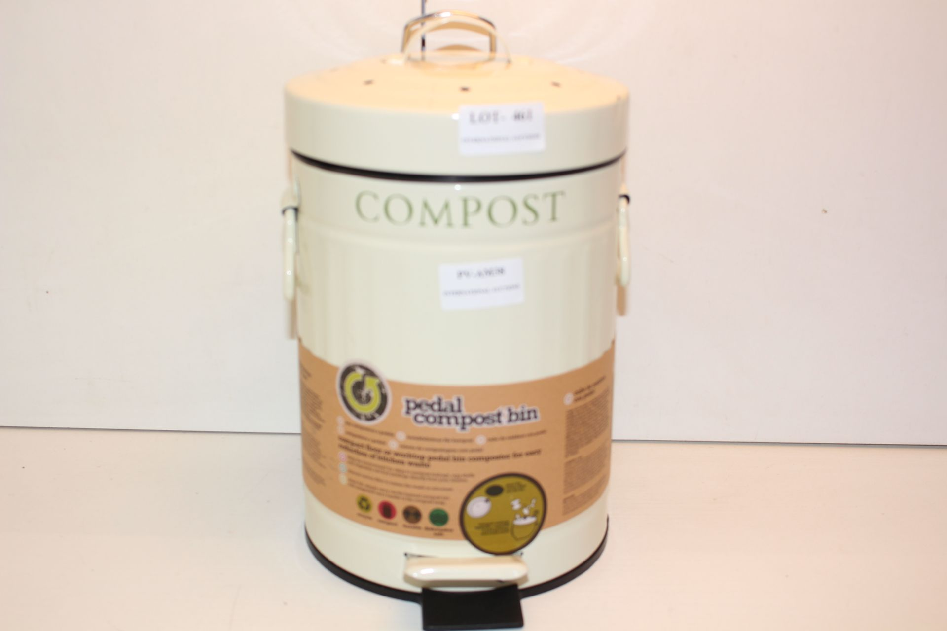 UNBOXED METALL COMPOST PEDAL BINCondition ReportAppraisal Available on Request- All Items are