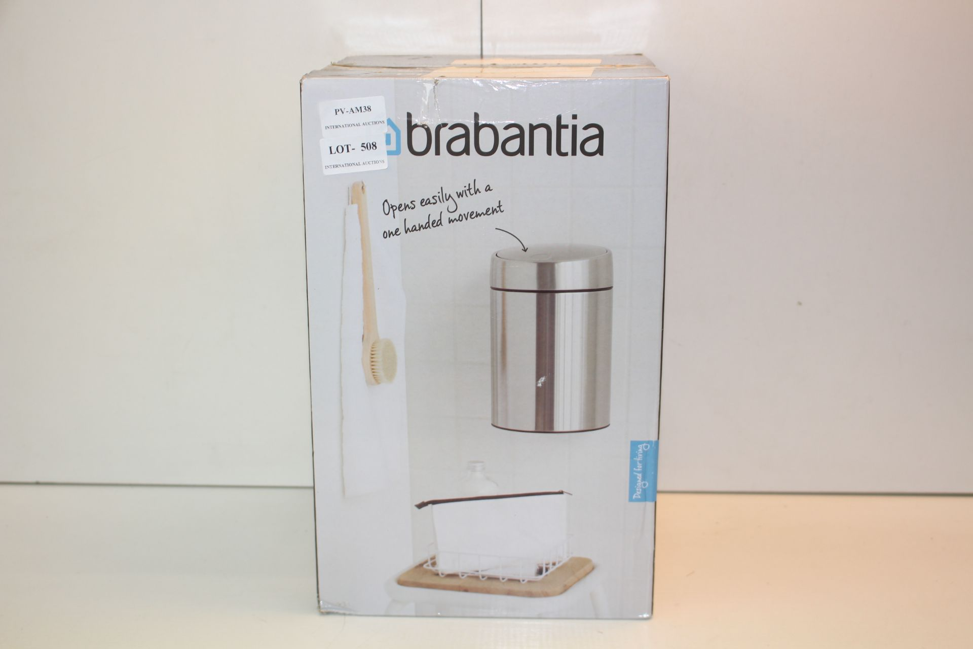 BOXED BRABANTIA 5L LITRE STAINLESS STEEL PEDAL BIN Condition ReportAppraisal Available on Request-