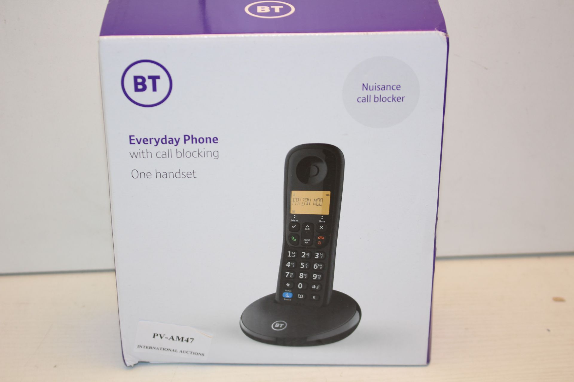 BOXED BT EVERYDAY PHONE WITH CALL BLOCKING ONE HANDSET RRP £19.99Condition ReportAppraisal Available