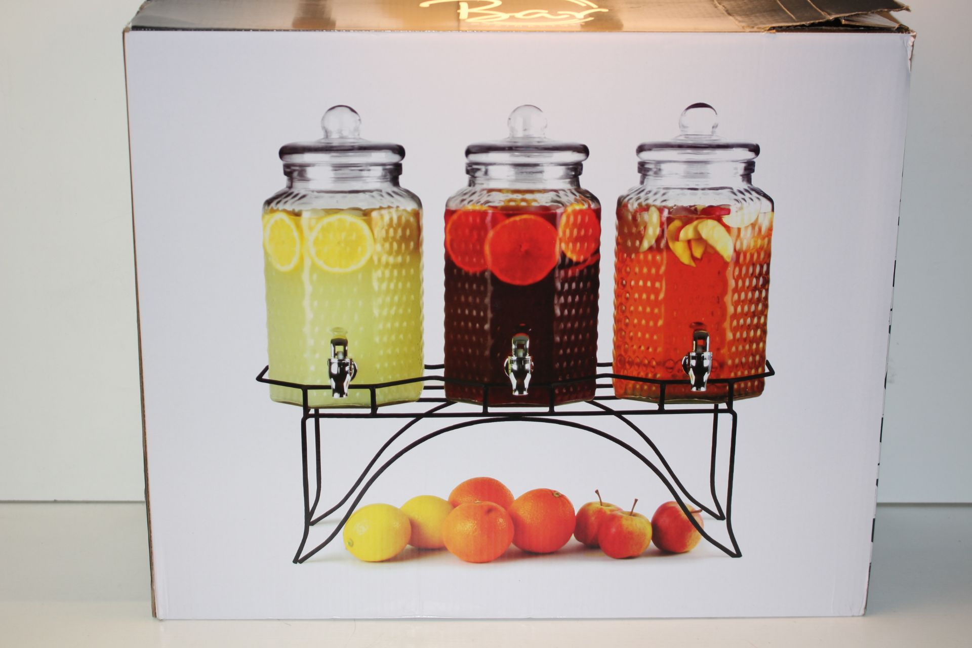 BOXED BAR DRINKS STUFF - DEL SOL TRIPLE DRINKS DISPENSER WITH STAND 12L Condition ReportAppraisal