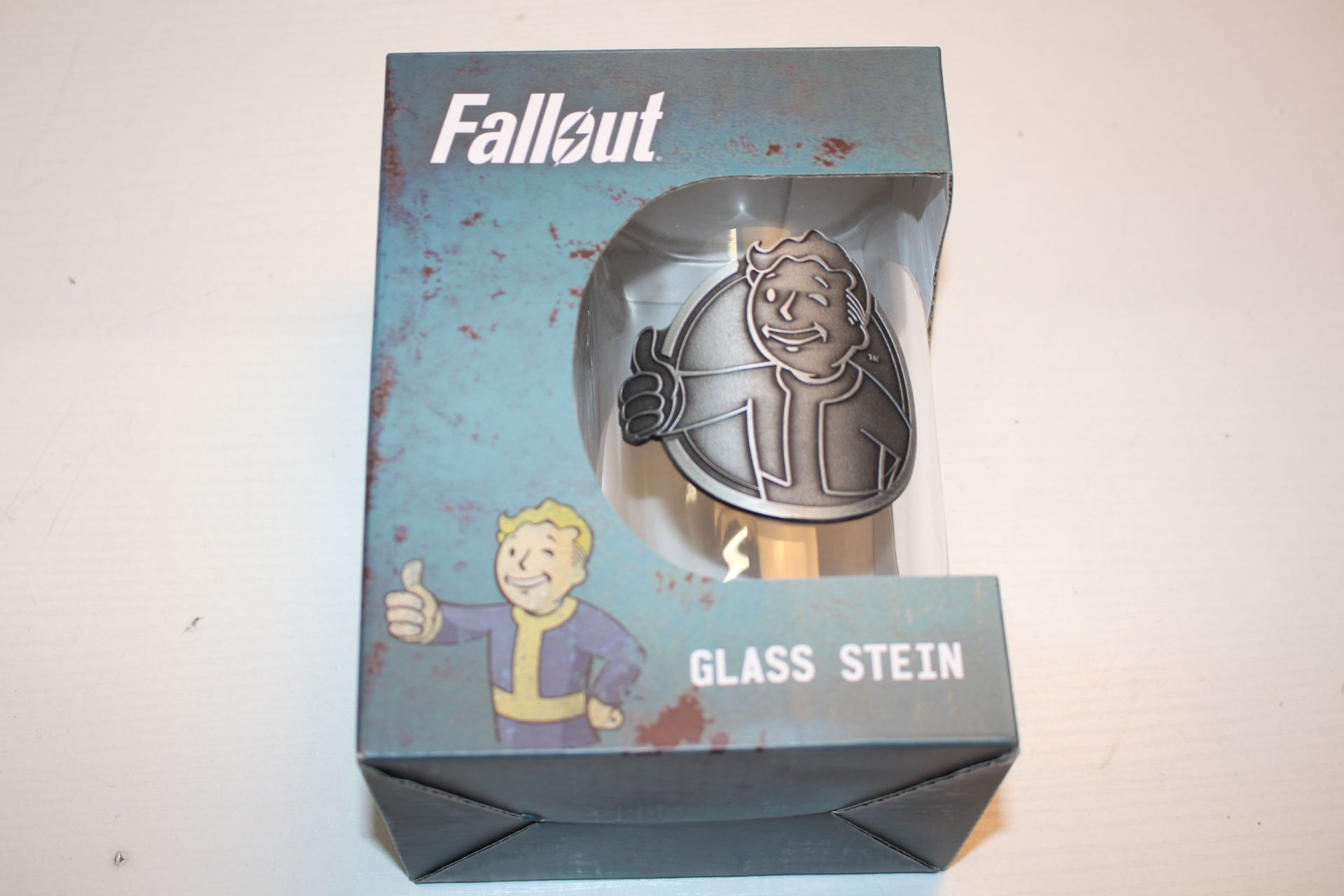BOXED FALLOUT GLASS TUMBLERCondition ReportAppraisal Available on Request- All Items are Unchecked/