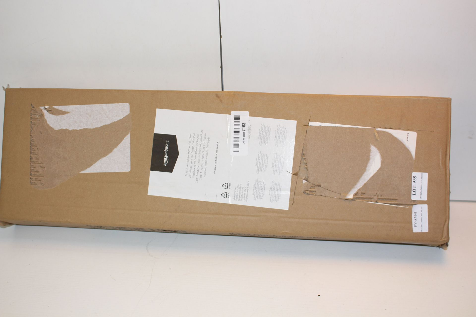 BOXED AMAZON BASICS TRIPLE LAUNDRY BASKET Condition ReportAppraisal Available on Request- All