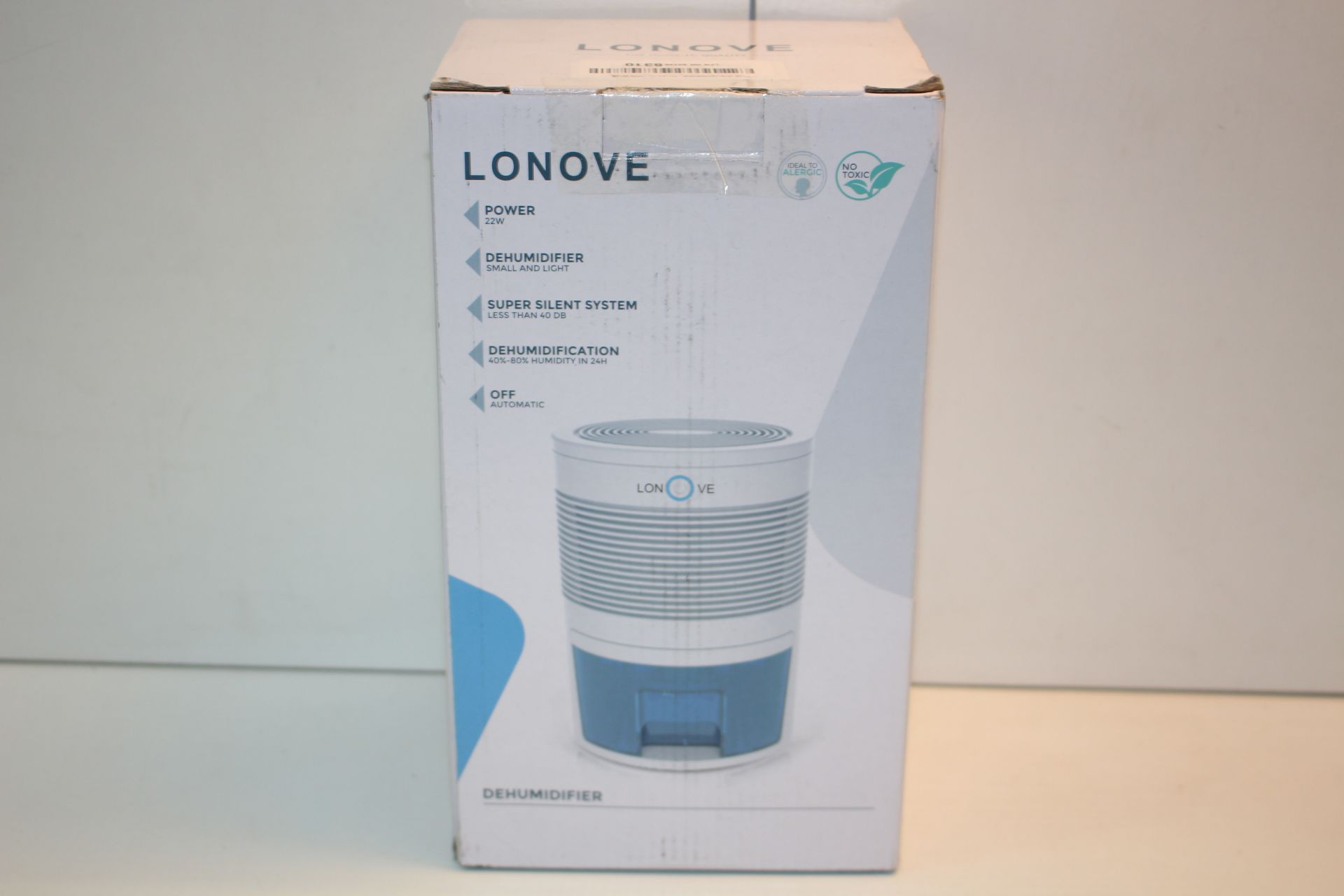 BOXED LONOVE MINI DEHUMIDIFIERTCondition ReportAppraisal Available on Request- All Items are